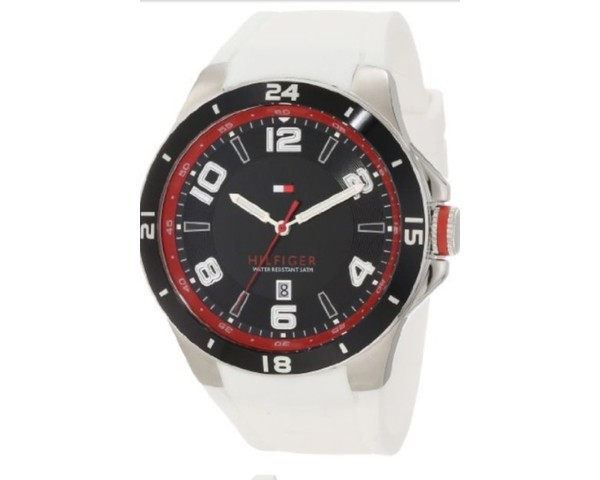 b78855e6b51 Tommy Hilfiger Men s 1790859 Stainless Steel and Leather Multi-Function  Black Dial Watch